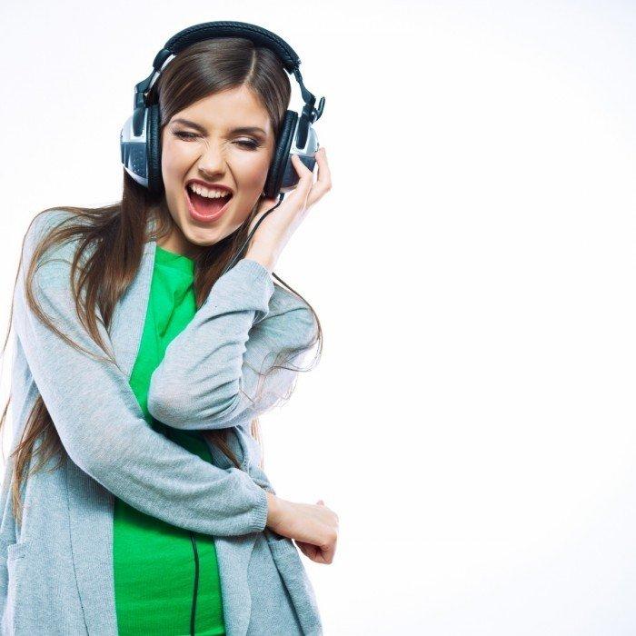 Женский секс под музыку