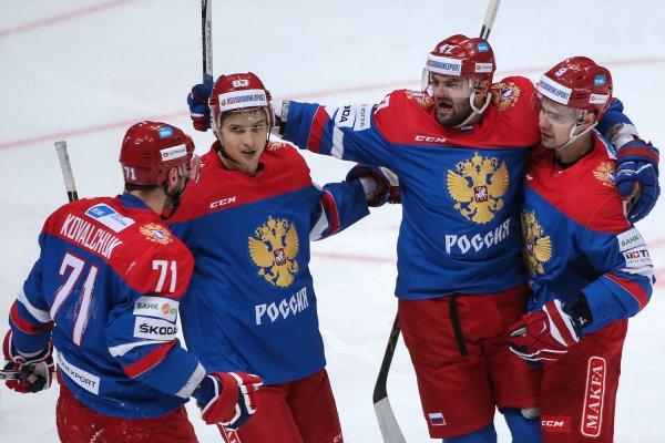Сборная РФ по хоккею разгромила команду Германии со счетом 6 – 3