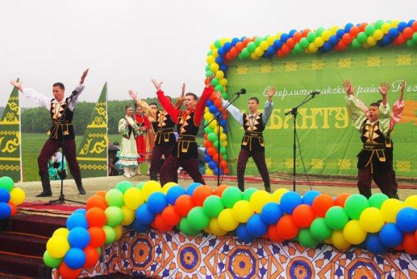В Башкортостане мощный ливень не испортил праздник Сабантуй