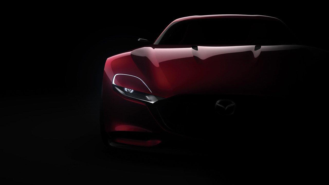 спортивный желтый автомобиль Mazda RX-Vision концепт  № 727261 загрузить