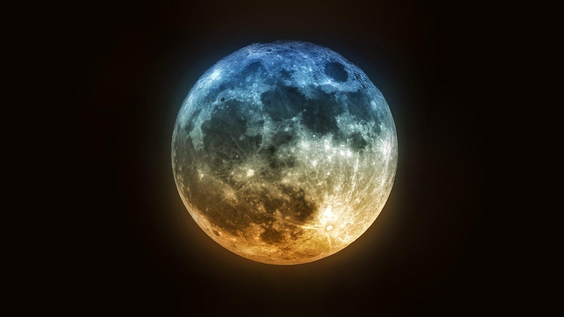 фото для рабочего стола луна девушки стал молодой