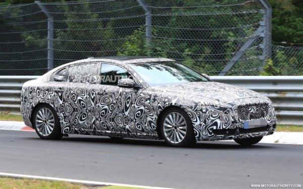 Удлинённый седан Jaguar XEL запечатлен во время тестов