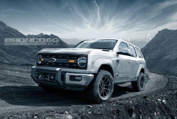 В сети появились первые рендеры возрожденного внедорожника Ford Bronco