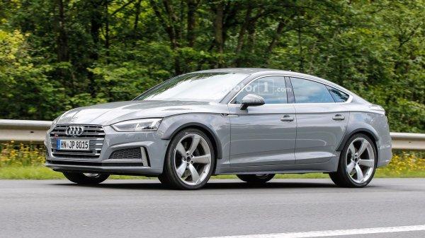 Новый Audi RS5 Sportback 2019 впервые замечен на тестах