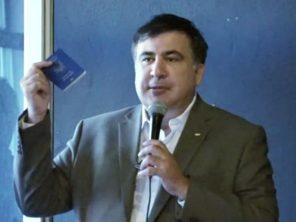 Саакашвили удалось прилететь в Польшу из США по украинскому паспорту