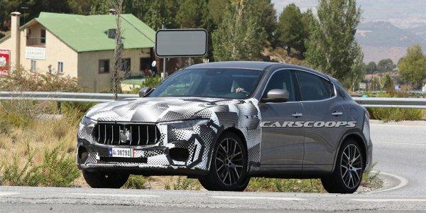 На тест-драйв вывели кроссовер Maserati Levante GTS