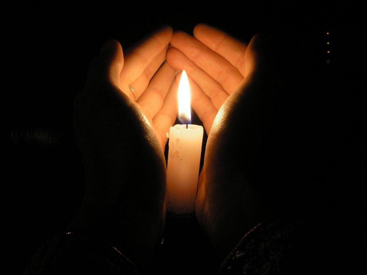 Открытки с горящей свечей скорбь по умершему, надписью свидания