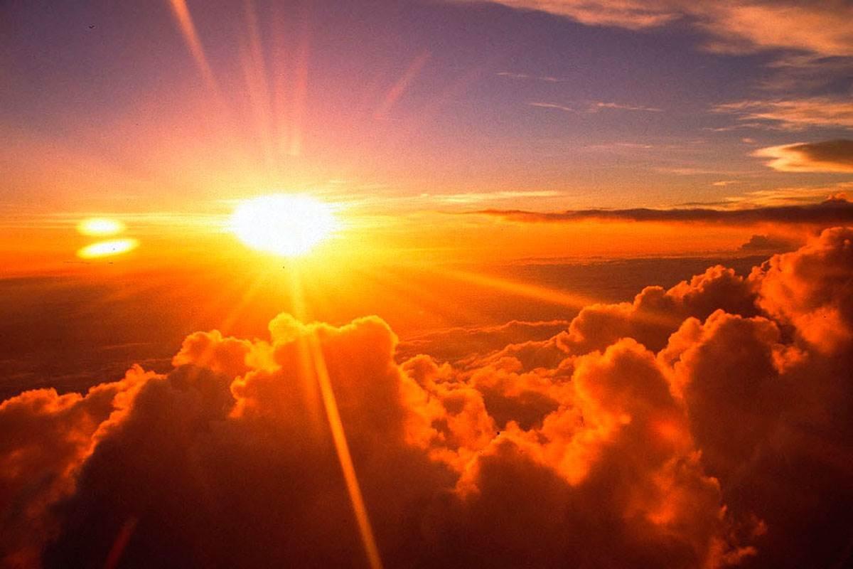если картинки яркое солнце в небеса одной