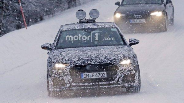 Новый седан Audi A6 отправился на зимние тесты