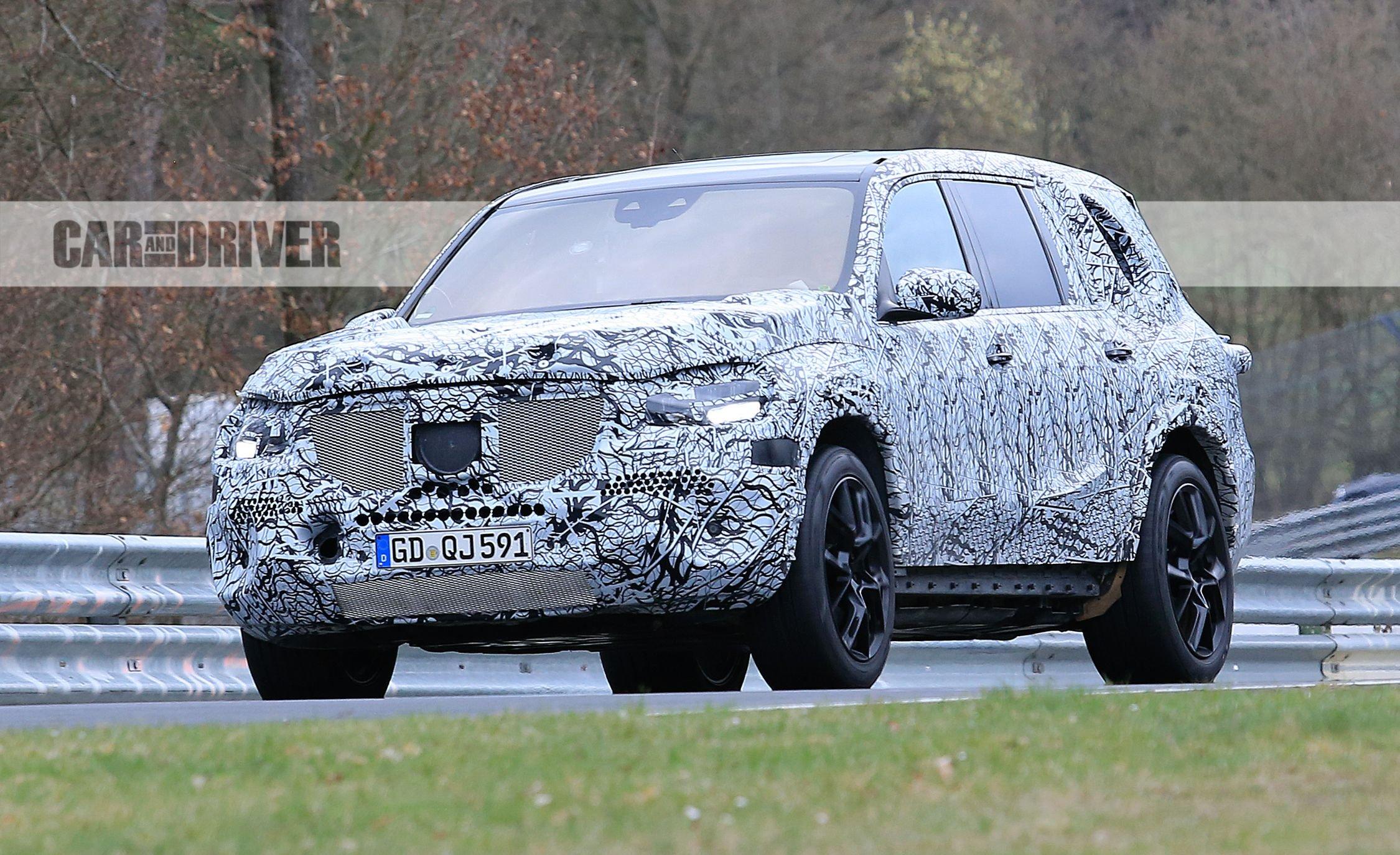 Mercedes-Benz GLS замечен на Нюрбургринге