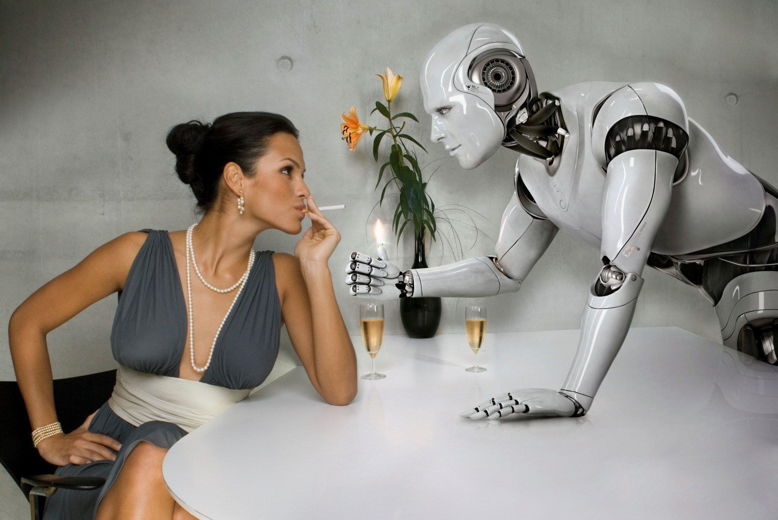 что робот трахает человека как