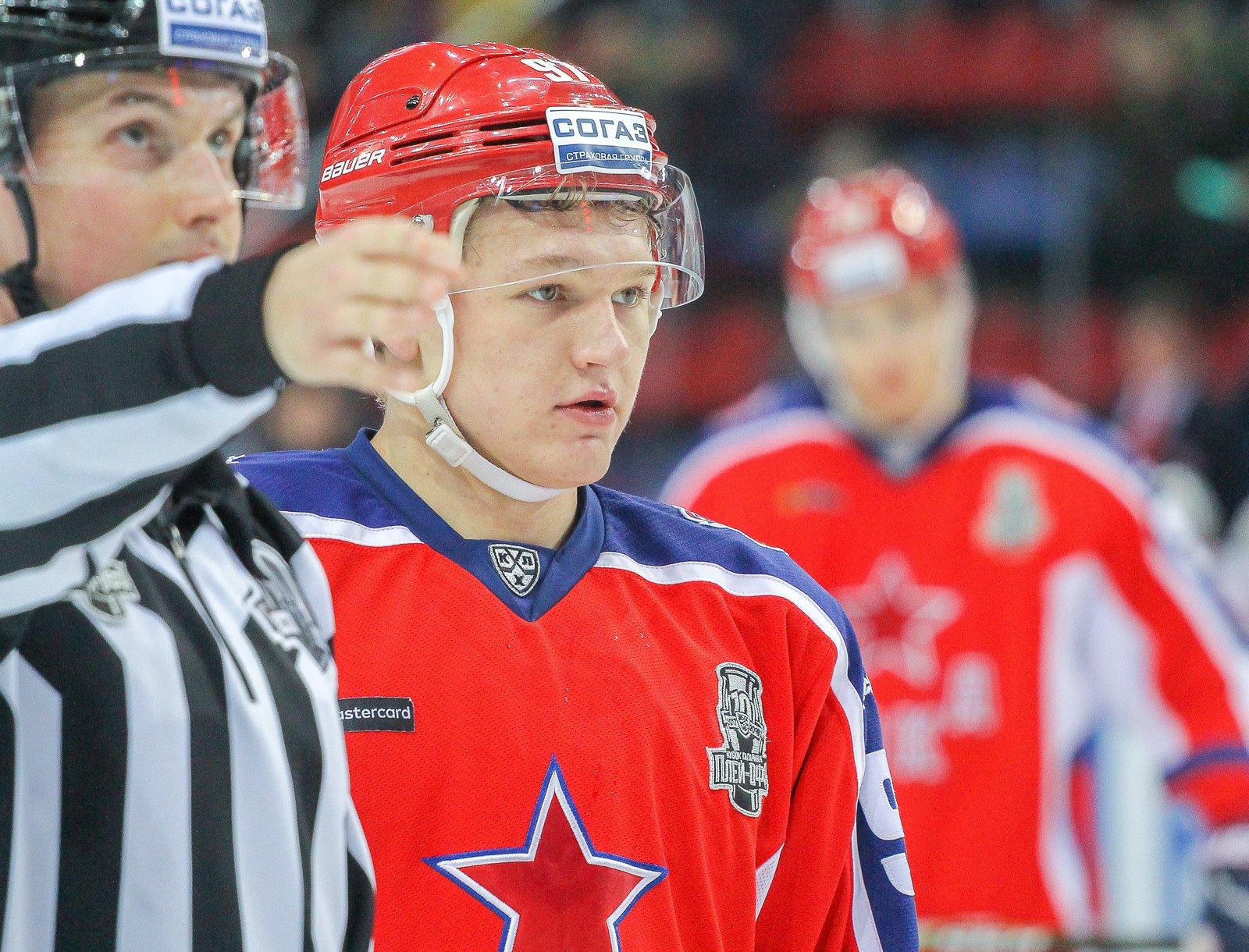 Капризов номинирован название лучшего юного хоккеиста Европы