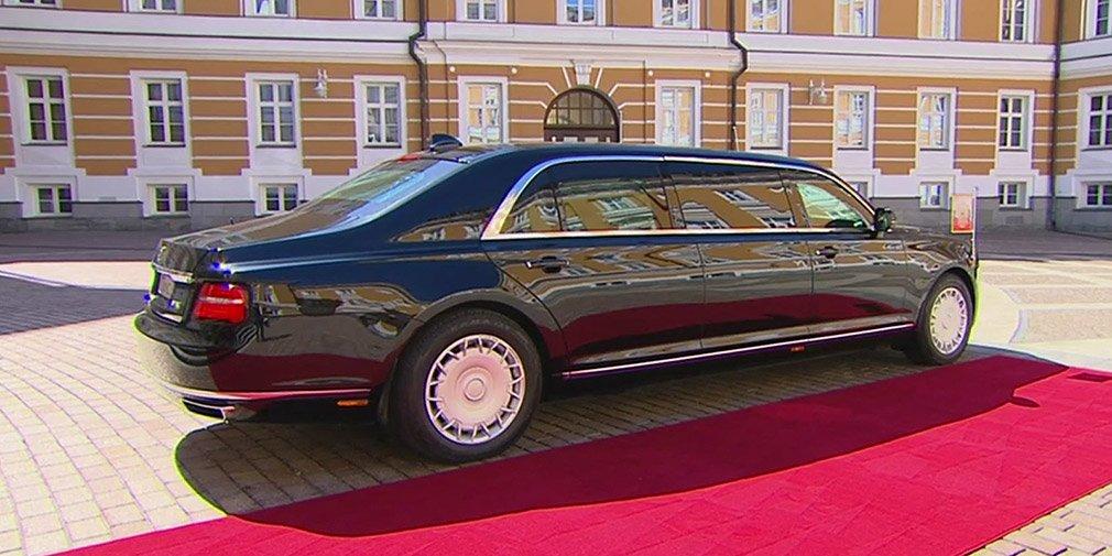 Президентский лимузин Aurus «Кортеж» получил грузовые шины