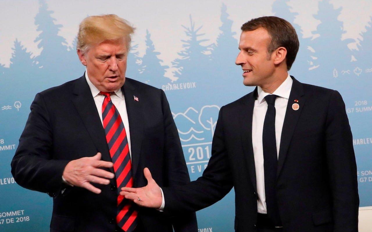 Картинки по запросу трамп и макрон рукопожатие