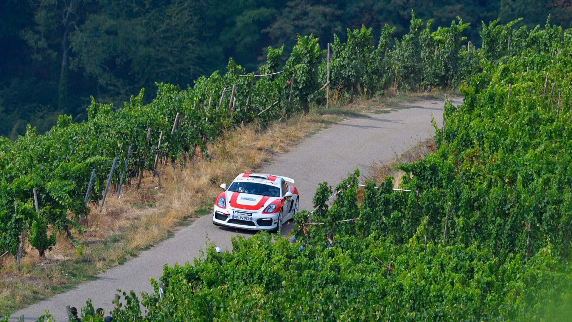 Раллийный Порше Cayman GT4 Clubsport Rally прошел этап WRC