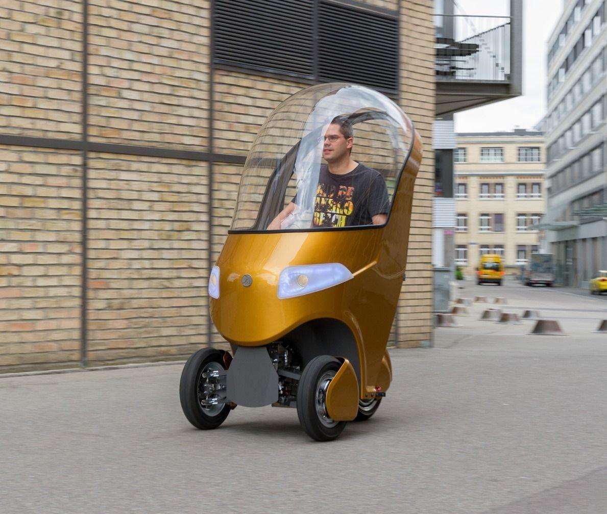 ВШвейцарии создали гибрид велосипеда, скутера иэлектрокара