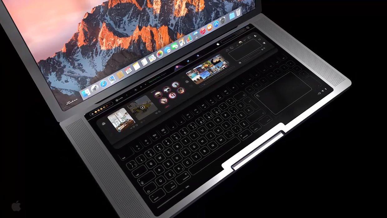 Всеть слили концепт-кар нового MacBook Pro ссенсорной клавиатурой