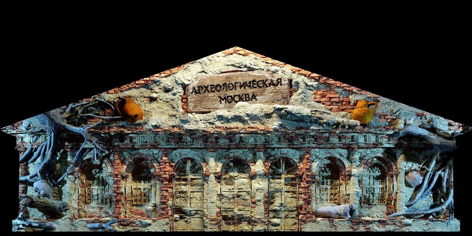 Археологические находки ифлотилия Петра I: на помещении Манежа покажут световые фильмы