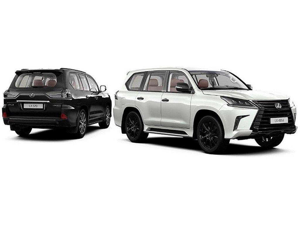 Лексус вставил вбольшой вседорожный автомобиль LXчёрные фары ичёрные эмблемы