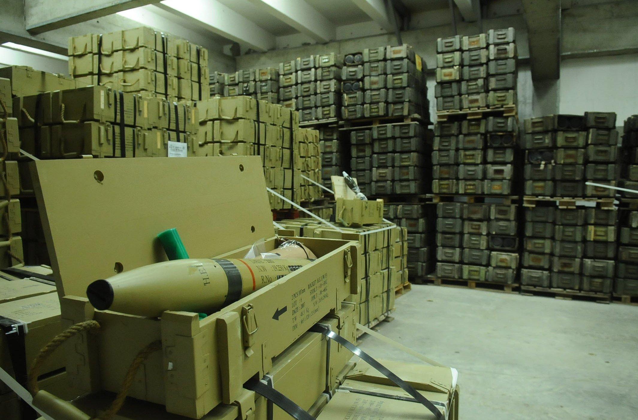 боеприпасы на складах фото