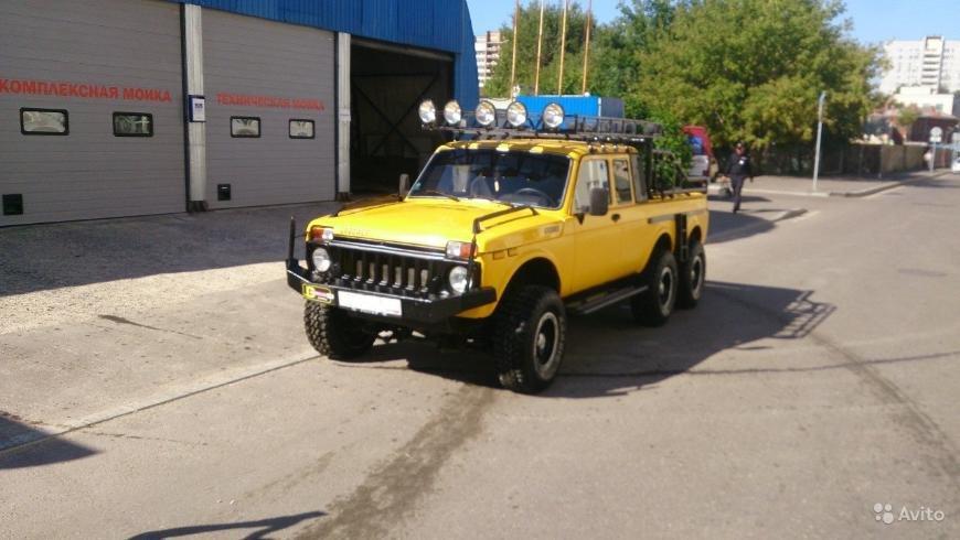 3646165e1dd1 На Avito на продажу выставлен уникальный 6-колёсный пикап «Нива»