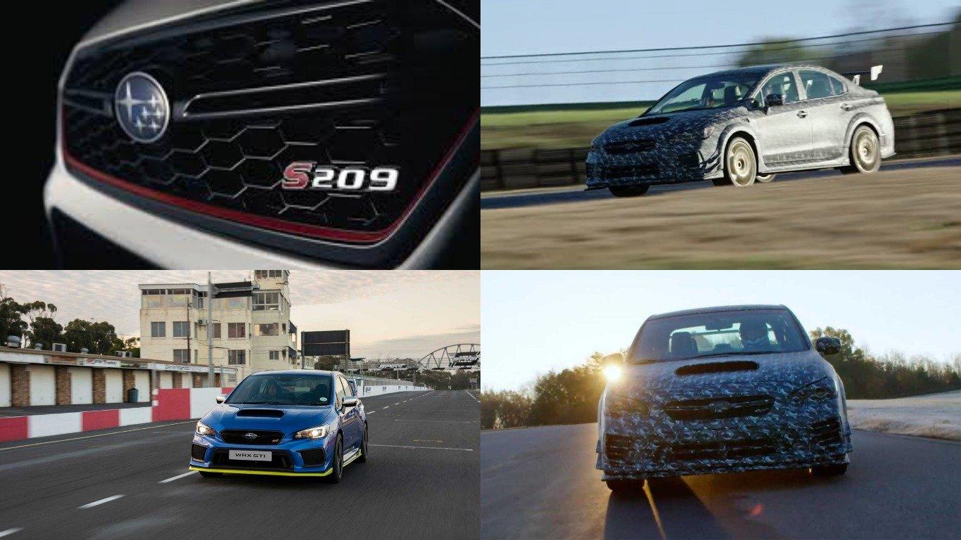 Subaru WRX STI S209 показали без камуфляжа на первом тизере