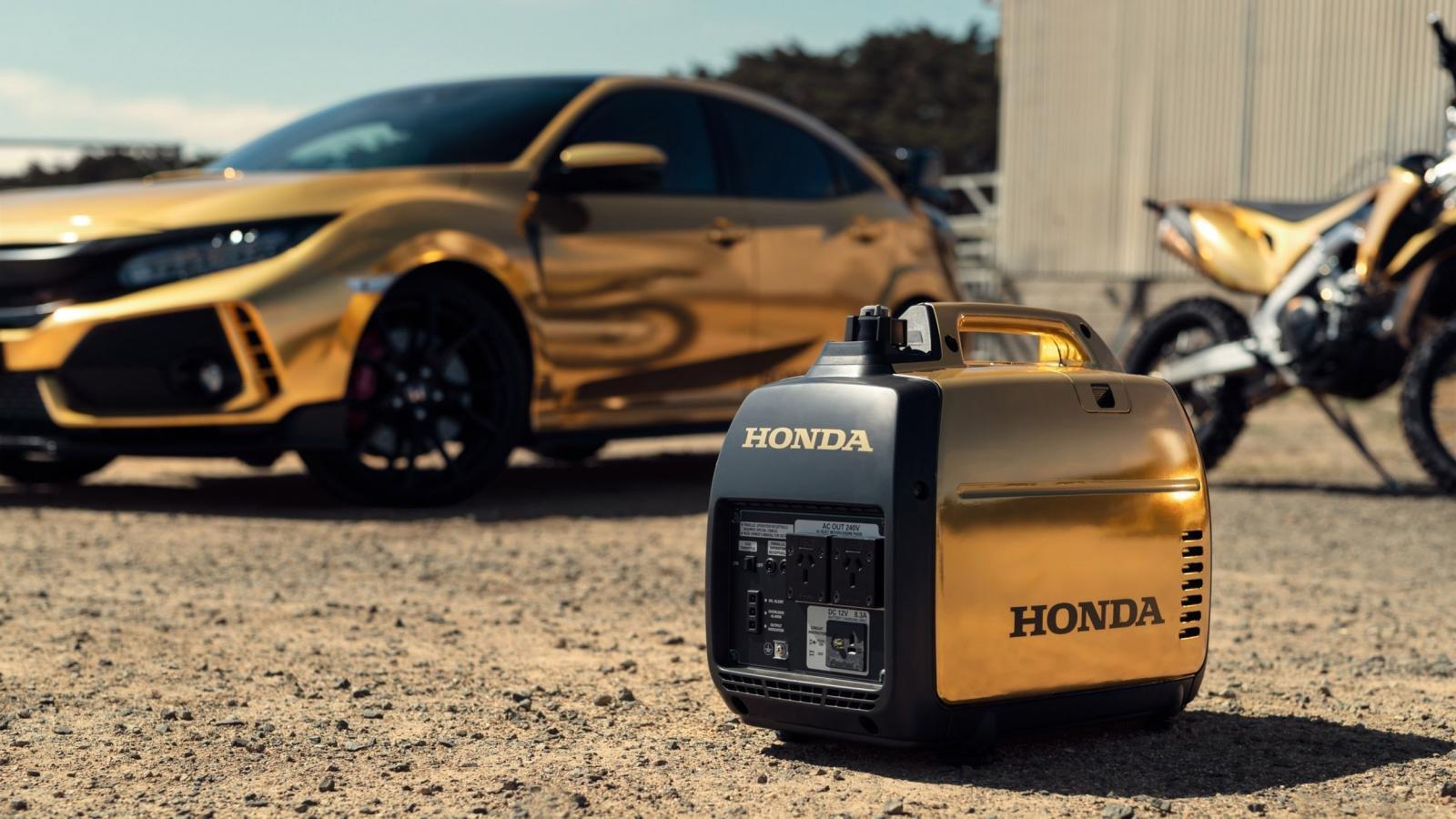 Хонда покрыла золотом мотоциклы, спорткары игазонокосилку