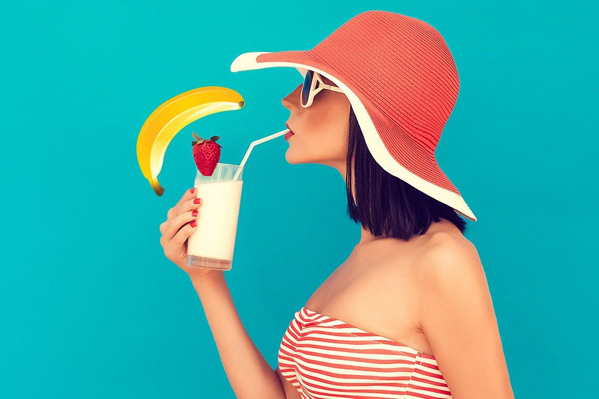 картинки люди пьют молочные коктейли них