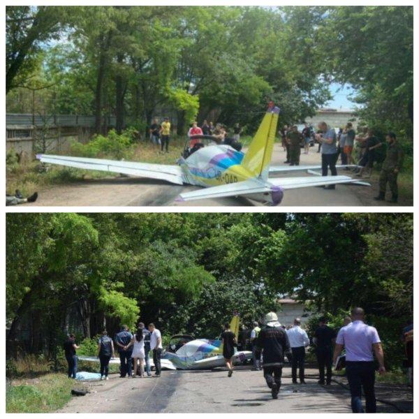 В Одессе при падении самолета Дельфин погибли два пилота